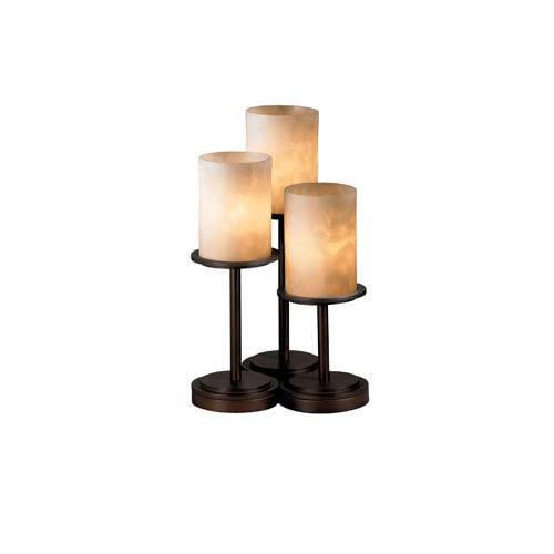 Clouds Dakota Three-Light Dark Bronze Table Lamp
