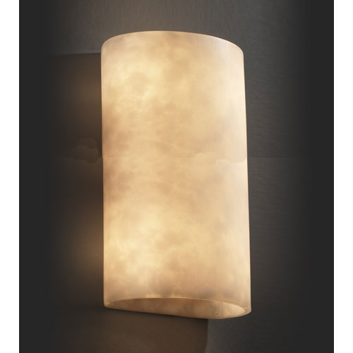 Justice Design Group Clouds Two-Light Really Big Cylinder Wall Sconce