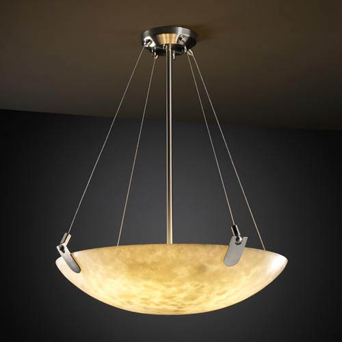Clouds 18-Inch Bowl Pendant with U-Clips