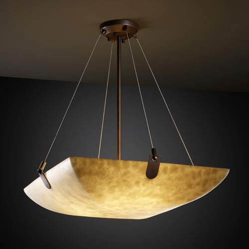 Clouds 36-Inch Bowl 6000 Lumen LED Pendant with U-Clips