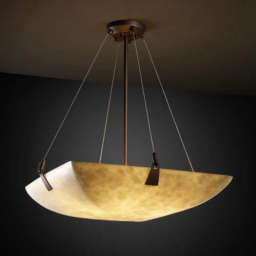 Clouds 48-Inch Bowl 6000 Lumen LED Pendant with Tapered Clips