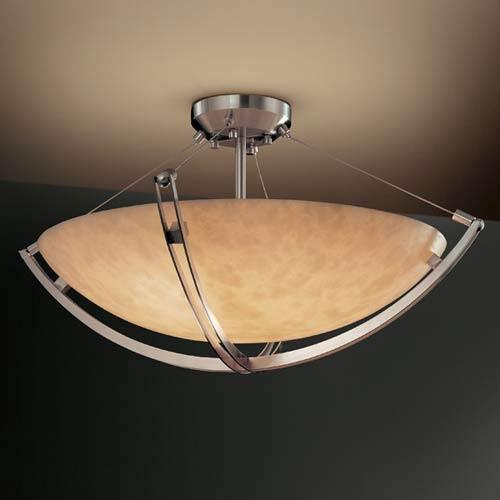 24-Inch 5000 Lumen LED Semi-Flush Mount with Crossbar