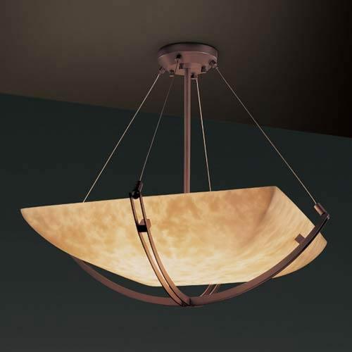 36-Inch Bowl 6000 Lumen LED Pendant with Crossbar