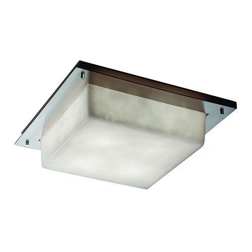 Clouds Brushed Nickel Two-Light Fluorescent Square Framed Wall Sconce