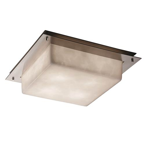 Justice Design Group Clouds Brushed Nickel Four Light 16 Inch Wide ...