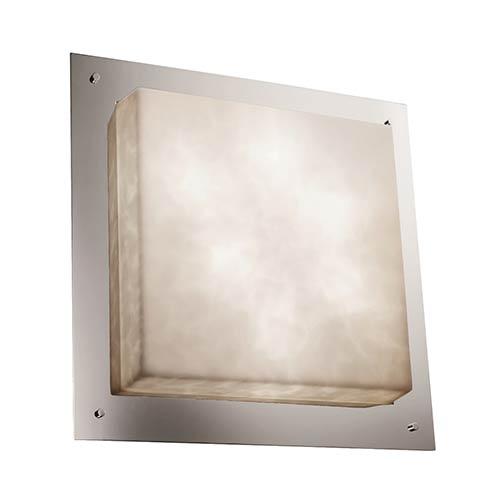 Clouds Polished Chrome Six-Light 24-Inch Wide Fluorescent Square Framed Flush Mount