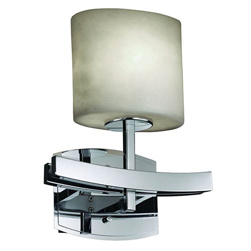 Justice Design Group Clouds Archway Polished Chrome One-Light Oval Wall Sconce