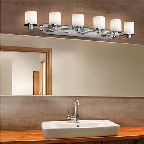 Justice Design Group Clouds Brushed Nickel Six-Light Bath Bar