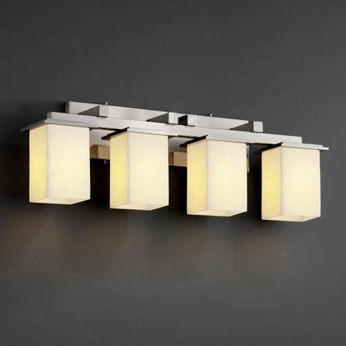 CandleAria Montana Four-Light Brushed Nickel Bath Fixture