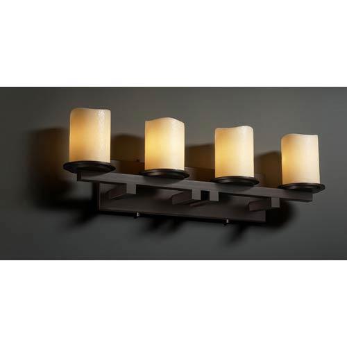 Justice Design Group CandleAria Dakota Four-Light Straight Bath Fixture