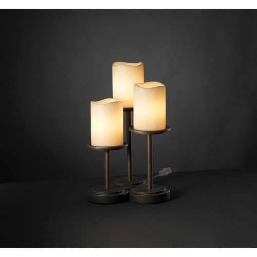 Justice Design Group Dakota Cream Dark Bronze Three-Light Accent Lamp