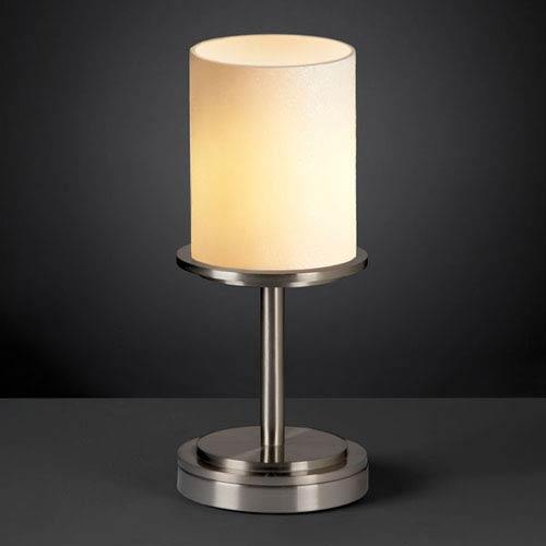 CandleAria Dakota Brushed Nickel Short Table Lamp