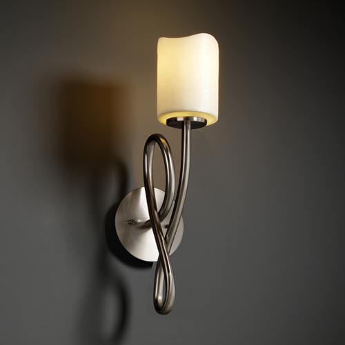 Justice Design Group CandleAria Capellini One-Light Sconce