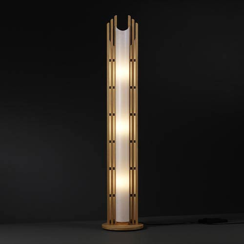 Domus Manhattan Beech Wood Floor Lamp