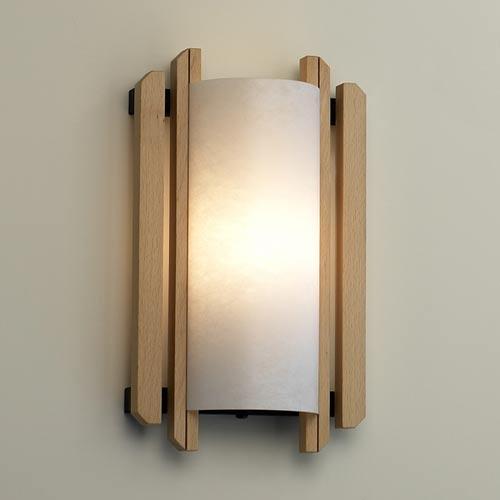 Justice Design Group Domus Trommel Beech Wood Sconce