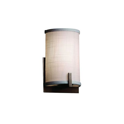 Textile  Dark Bronze 5.5-Inch LED Wall Sconce