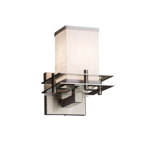 Textile Brushed Nickel 6.5-Inch LED Wall Sconce