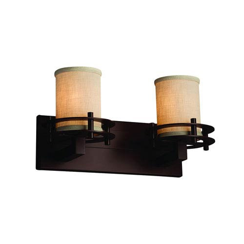 Textile  Dark Bronze 16.5-Inch LED Bath Bar