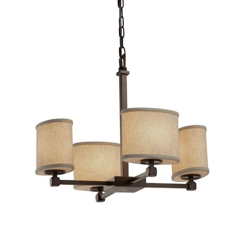 Textile  Dark Bronze 20.5-Inch LED Chandelier