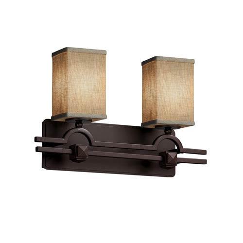 Textile  Dark Bronze 19-Inch LED Bath Bar