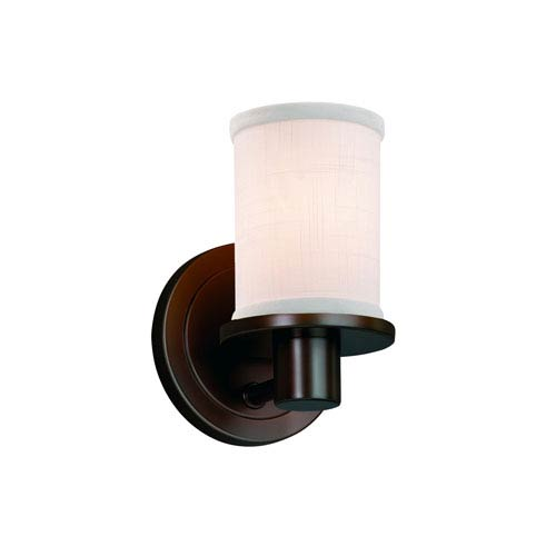 Textile Dark Bronze 5-Inch LED Wall Sconce