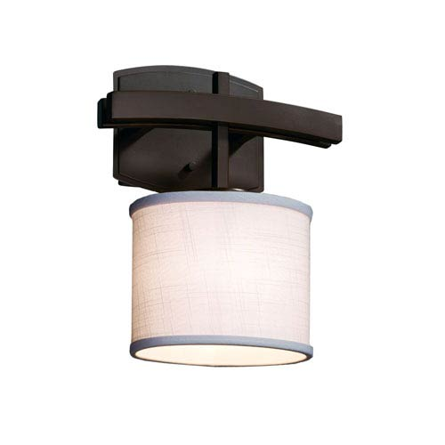 Textile  Dark Bronze 9-Inch LED Wall Sconce