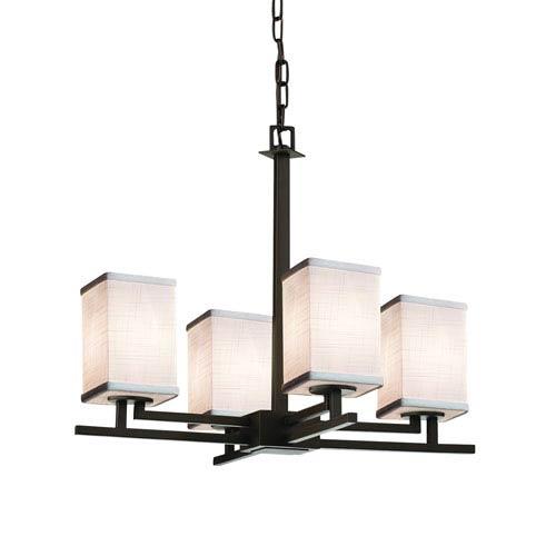 Textile  Dark Bronze 23-Inch LED Chandelier