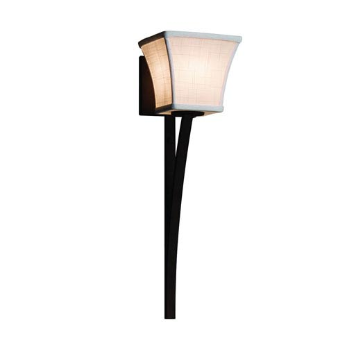 Textile Dark Bronze 6-Inch LED Wall Sconce