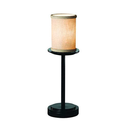 Textile  Matte Black 5-Inch LED Table Lamp