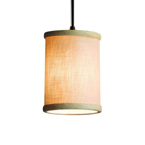 Justice Design Group Textile  Dark Bronze 4-Inch LED Mini Pendant