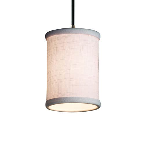 Justice Design Group Textile Brushed Nickel 4-Inch LED Mini Pendant