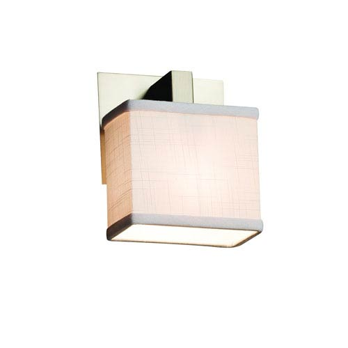 Textile Brushed Nickel 5.5-Inch LED Wall Sconce