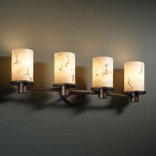 Justice Design Group LumenAria Rondo Four-Light Dark Bronze Bath Fixture