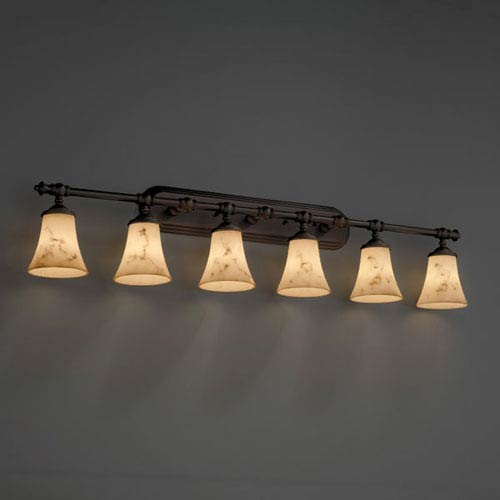 LumenAria Tradition Six-Light Dark Bronze Bath Fixture