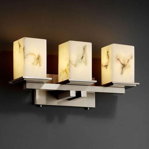 Justice Design Group LumenAria Montana Three-Light Brushed Nickel Bath Fixture