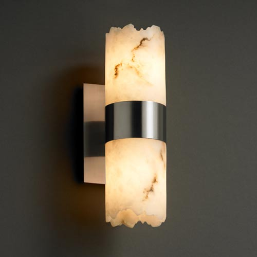 Justice Design Group LumenAria Dakota Up and Downlight Two-Light Sconce