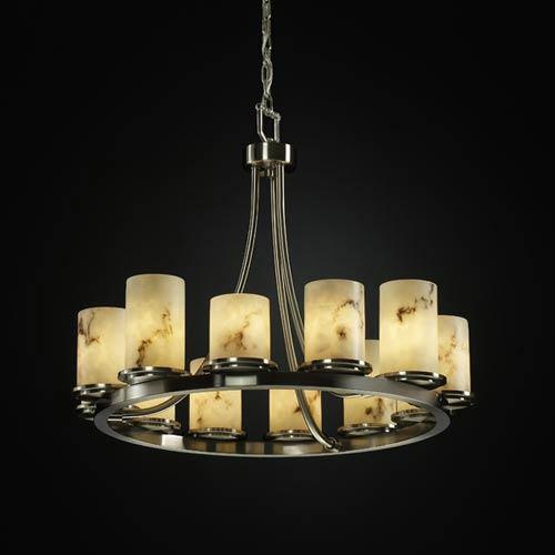 Justice Design Group LumenAria Dakota Twelve Light Short Ring Chandelier