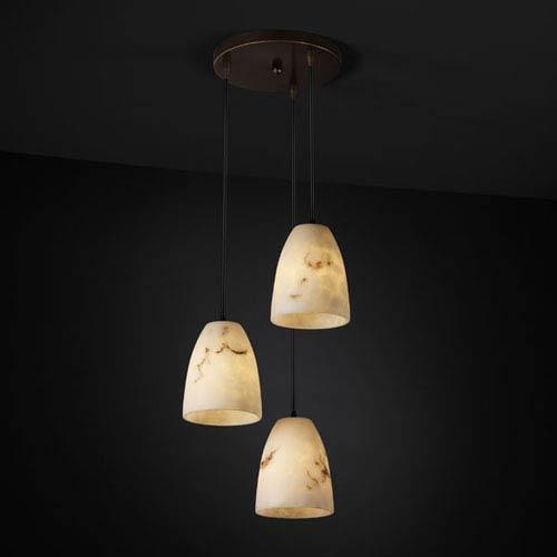 Justice Design Group LumenAria Modular Three-Light Dark Bronze Cluster Mini Pendant
