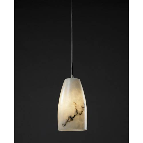 LumenAria Tapered Cylinder Pendant with Antique Brass Fitter