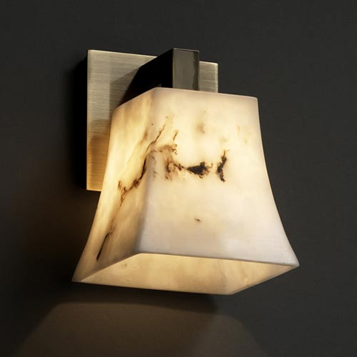 Justice Design Group LumenAria Modular Antique Brass One-Light Sconce
