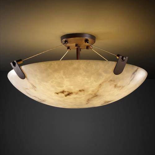 LumenAria 36-Inch 6000 Lumen LED Semi-Flush Mount with U-Clips