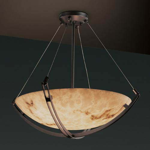 LumenAria 24-Inch Bowl Pendant with Crossbar