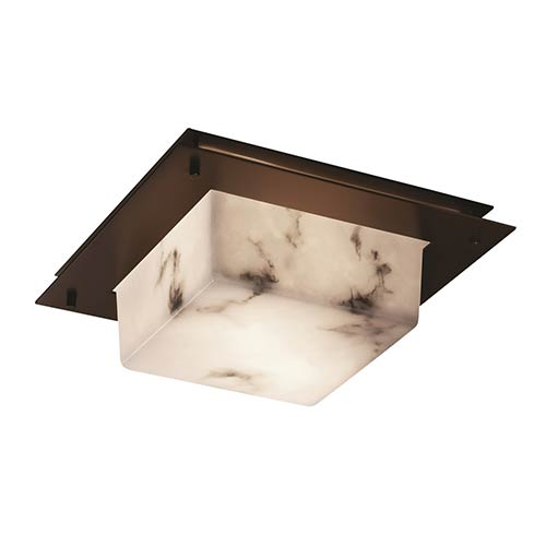 Justice Design Group LumenAria Dark Bronze Two-Light 12-Inch Wide Fluorescent Square Framed Flush Mount