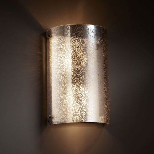 Justice Design Group Fusion Finials Two-Light Dark Bronze Curved Wall Sconce