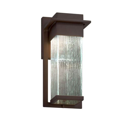 Fusion - Pacific Dark Bronze LED Outdoor Wall Sconce with Rain Artisan Glass