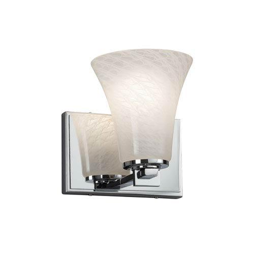 Fusion - Era Polished Chrome LED Wall Sconce with Weave Artisan Glass