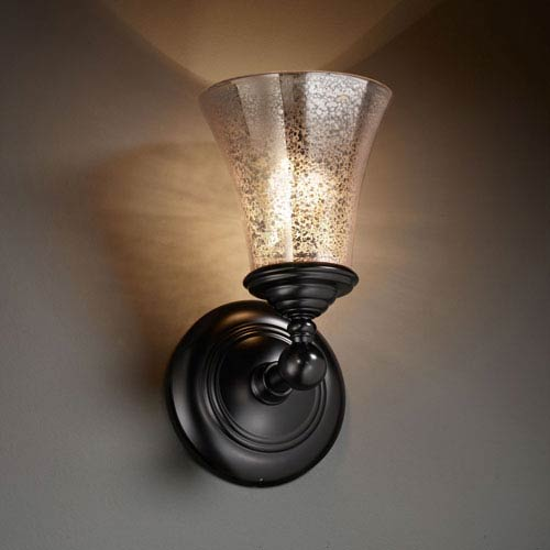 Fusion Tradition Matte Black Wall Sconce