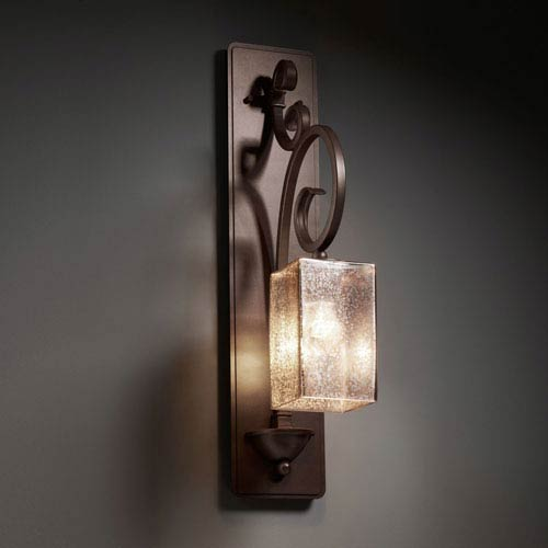 Justice Design Group Fusion Victoria Dark Bronze Tall Wall Sconce