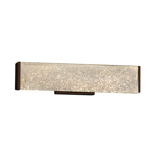 Fusion - Latitude Dark Bronze LED Bath Vanity with Mercury Artisan Glass
