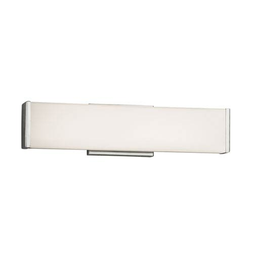 Fusion - Latitude Polished Chrome LED Bath Vanity with Opal Artisan Glass